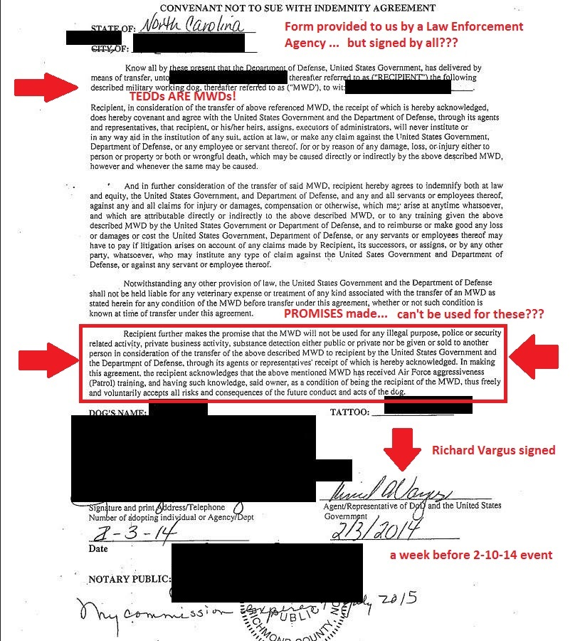 Convenant Not To Sue With Indemnity Agreement 2 3 14 Redacted