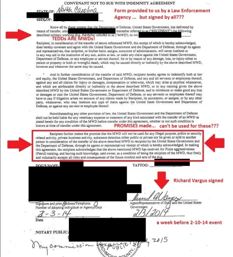 Convenant Not to Sue with Indemnity Agreement 2-3-14 redacted