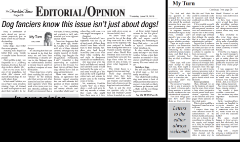 Franklin Times Editorial 6-23-16