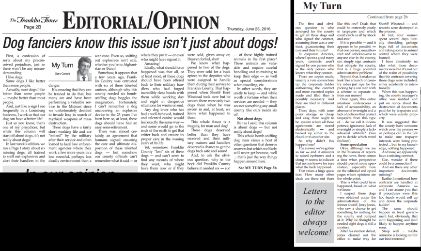 Franklin Times Editorial 6-23-16